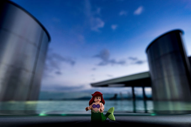 mermaid make late day swimming session Cloud - Sky LEGO Mermaid Nature Outdoors Panda On Tour Searching Sunset