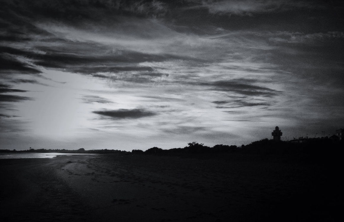 blackandwhite at Playa La Gaviota by Miguel Cano