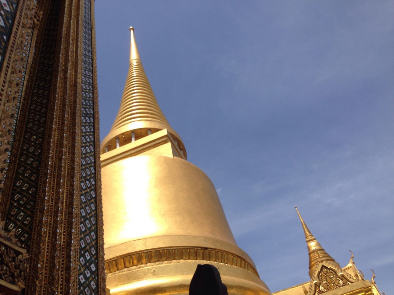 Architectural Feature Architecture Blue Built Structure Capital Cities  Cloud - Sky Day Dome Famous Place High Section Illuminated International Landmark Low Angle View No People Outdoors Place Of Worship Religion Sky Spirituality Tall - High Temple - Building Thailand The Architect - 2016 EyeEm Awards Tourism Travel Destinations