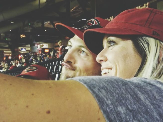 Authentic Moments caught them slippin at a baseball game