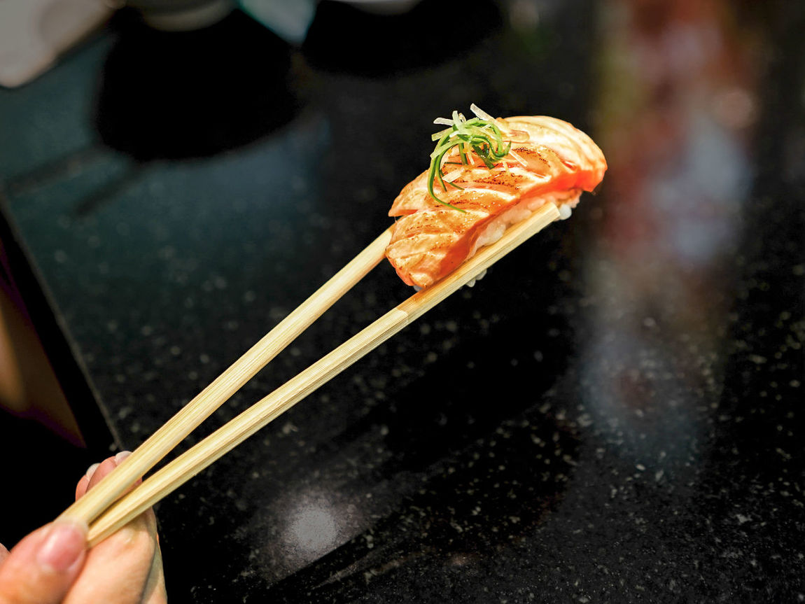 Art Of Food ASIA Chinese Food Chopsticks Close-up Elegant Fish Food Food And Drink Grill Japanese Food Salmon Sushi