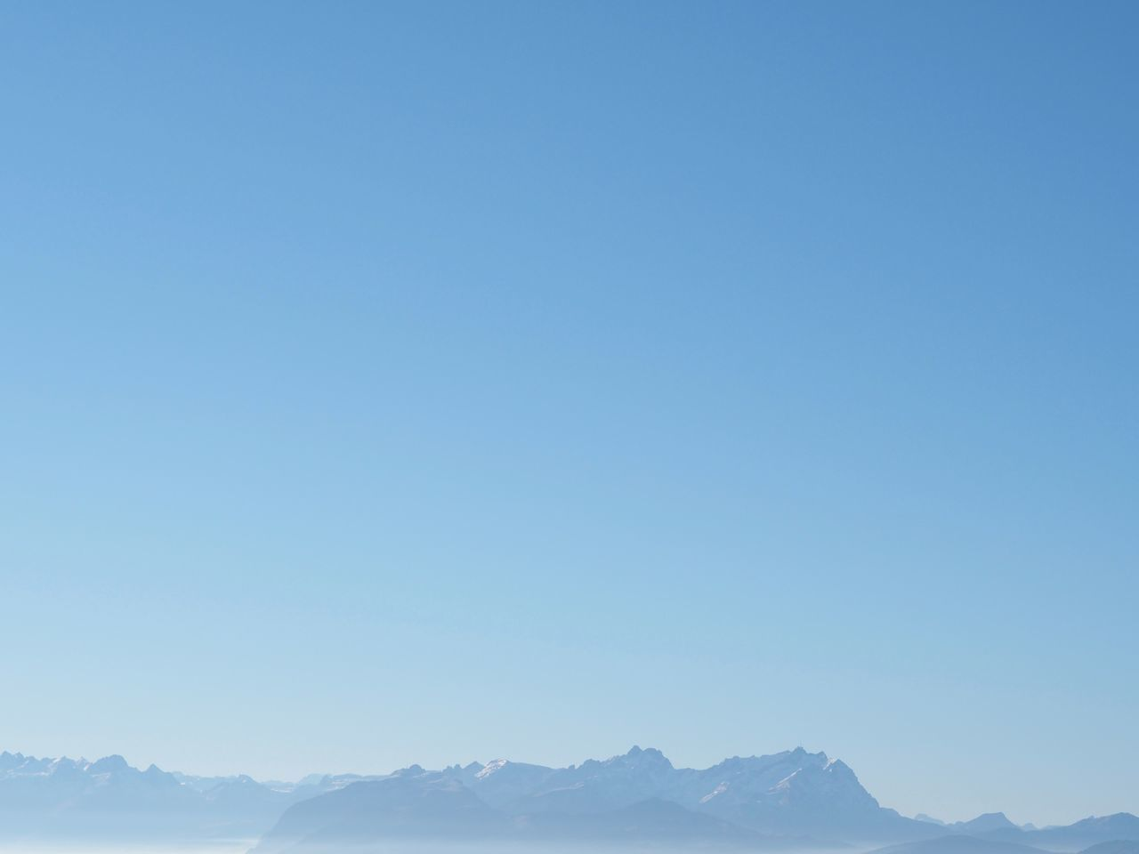 Blue Clear Sky Mountain Mountain Range Outdoors Shades Of Blue Sky Snow Winter
