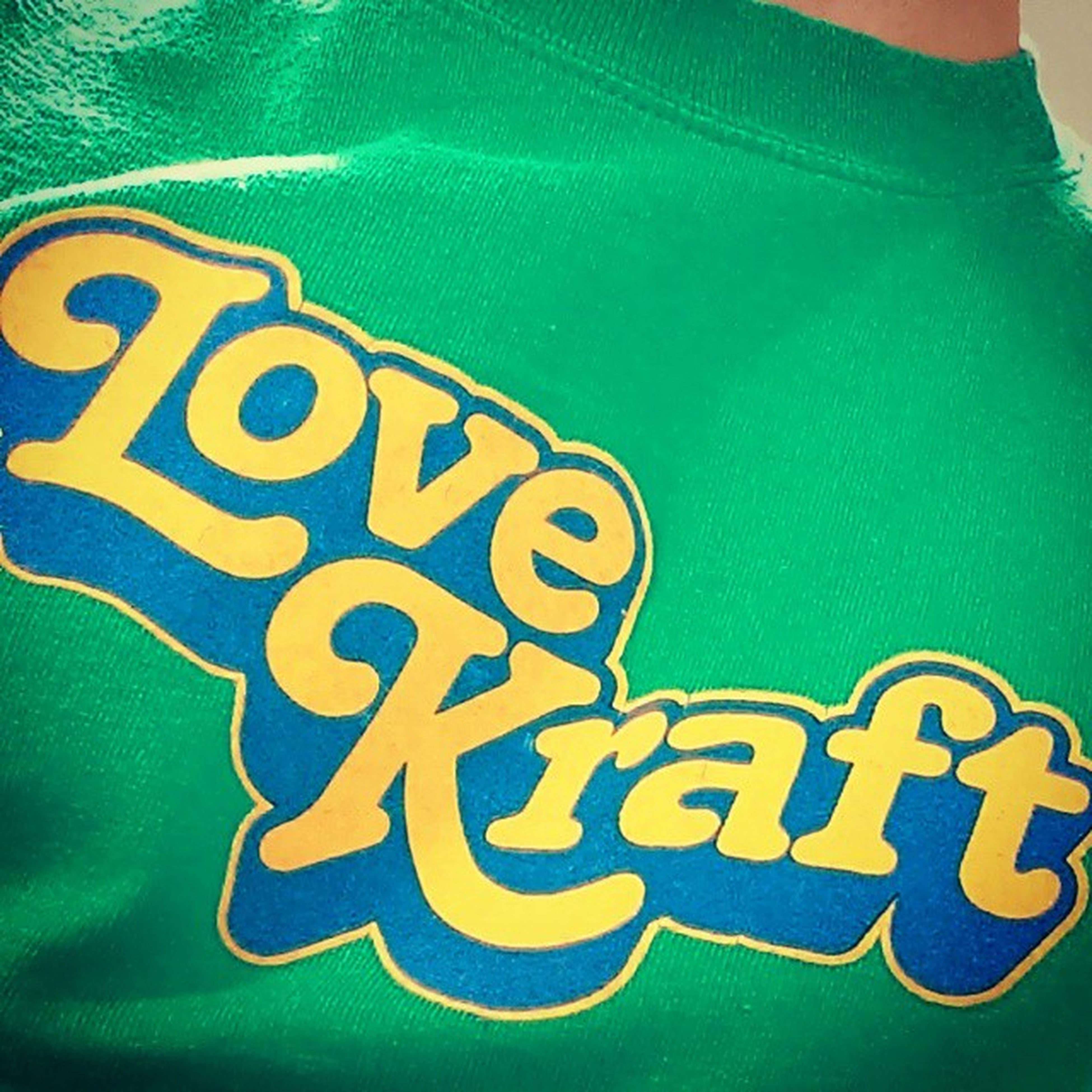 Wear your band T-shirt to work day - has to be a Super Furry one. 6musicTshirtDay LoveKraft SFA SFAOK SuperFurryAnimals SuperFurries music green yellow
