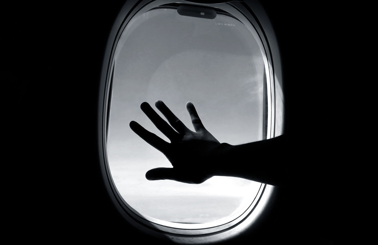 Beautiful stock photos of airplane, human hand, human body part, one person, real people