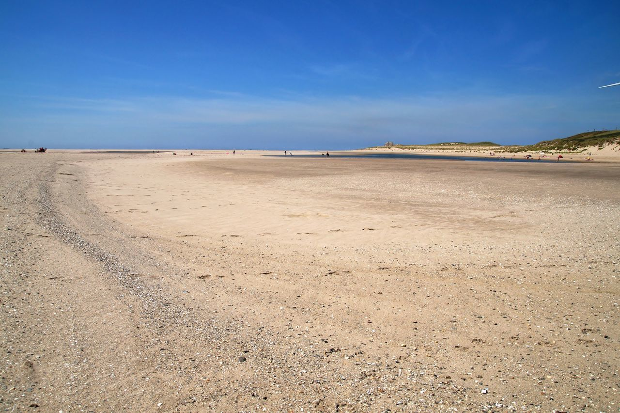 Beach Beauty In Nature Blue Blue Sky Day Landscape Nature Outdoors Sand Scenics Sea Sky Tranquil Scene Tranquility Tweede Maasvlakte Water