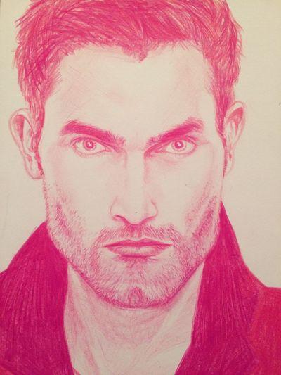 Art Pencil Guy Tyler Hoechlin Teen Wolf