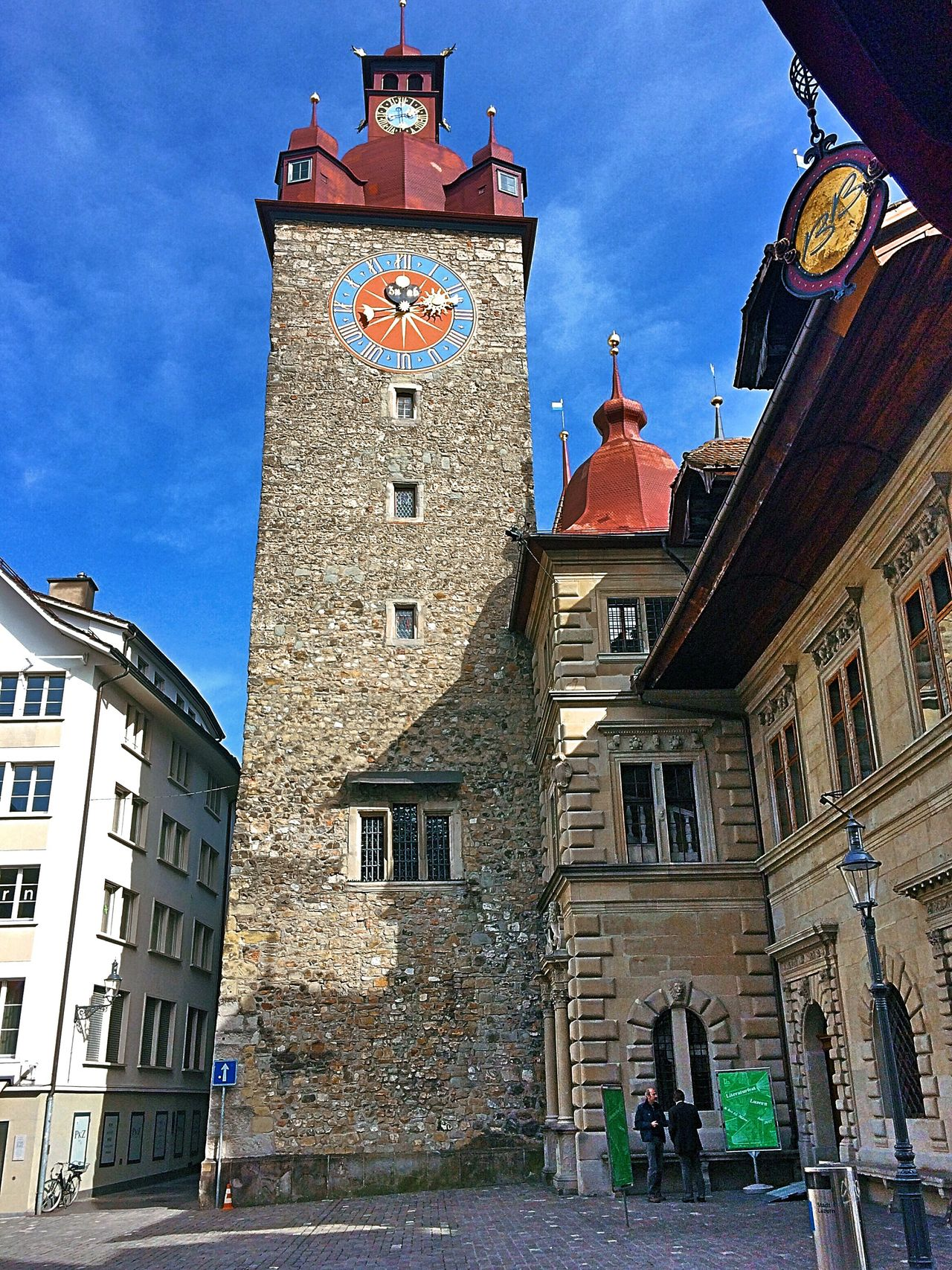 Luzern Architecture Building Exterior Clock Built Structure Clock Tower Tower Time Sky Outdoors No People Day Clock Face Medieval Astronomical Clock