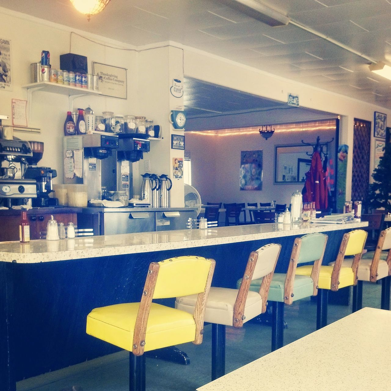 My Favorite Place Indoors  No People Cafe1 FortBraggin'! Fortbragg FortBraggCA Diner DinersDriveInsDives Diner♥ WestCoast Cafe