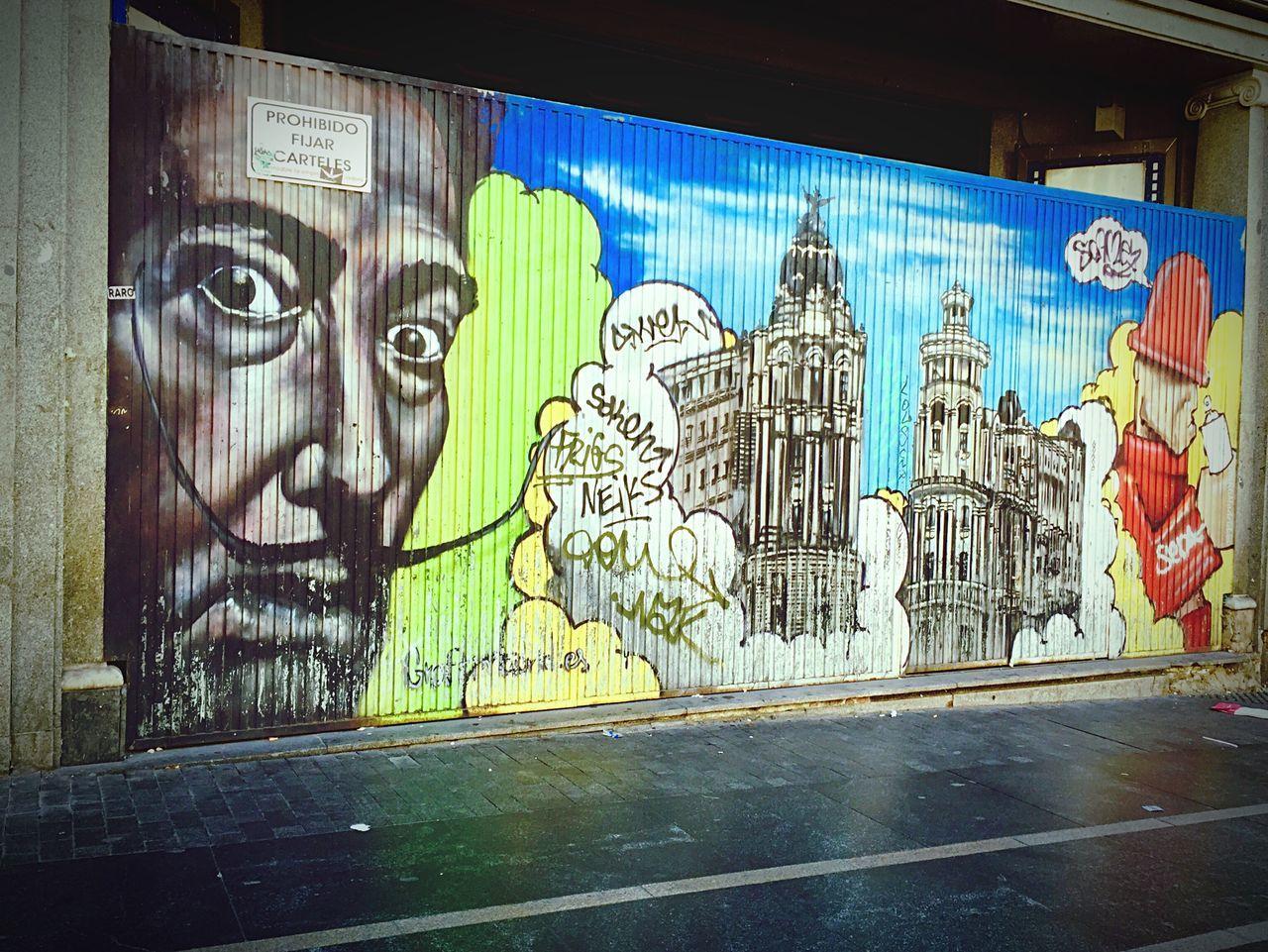 El gran Dalí... Salvadordali Granvia Summer2015 Madrid SPAIN Graffiti Mural Urbanphotography Streetphotography IPhoneography