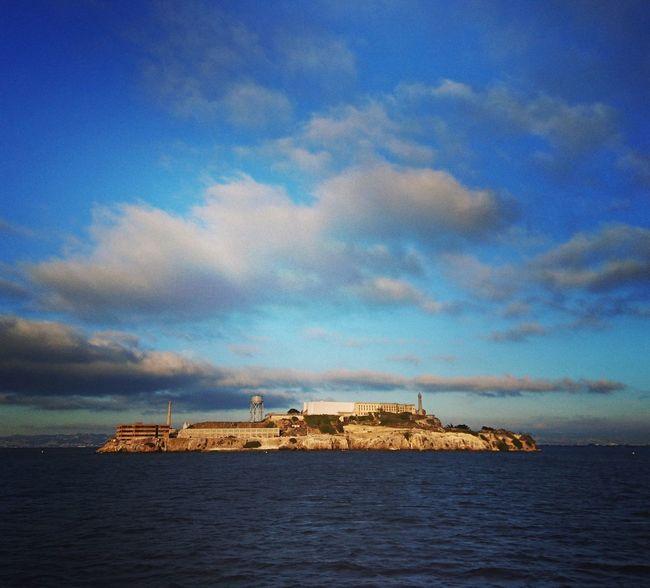 Sea Sky Water Cloud - Sky San Francisco Alcatraz Alcatraz Island Island Sunny Day Ocean California