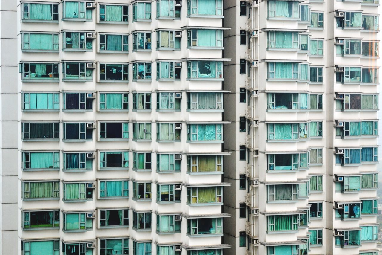 Full Frame Architecture Window Day Backgrounds Apartment Residential  Building Exterior Building Skyscraper HongKong Architecture_collection The Architect - 2017 EyeEm Awards