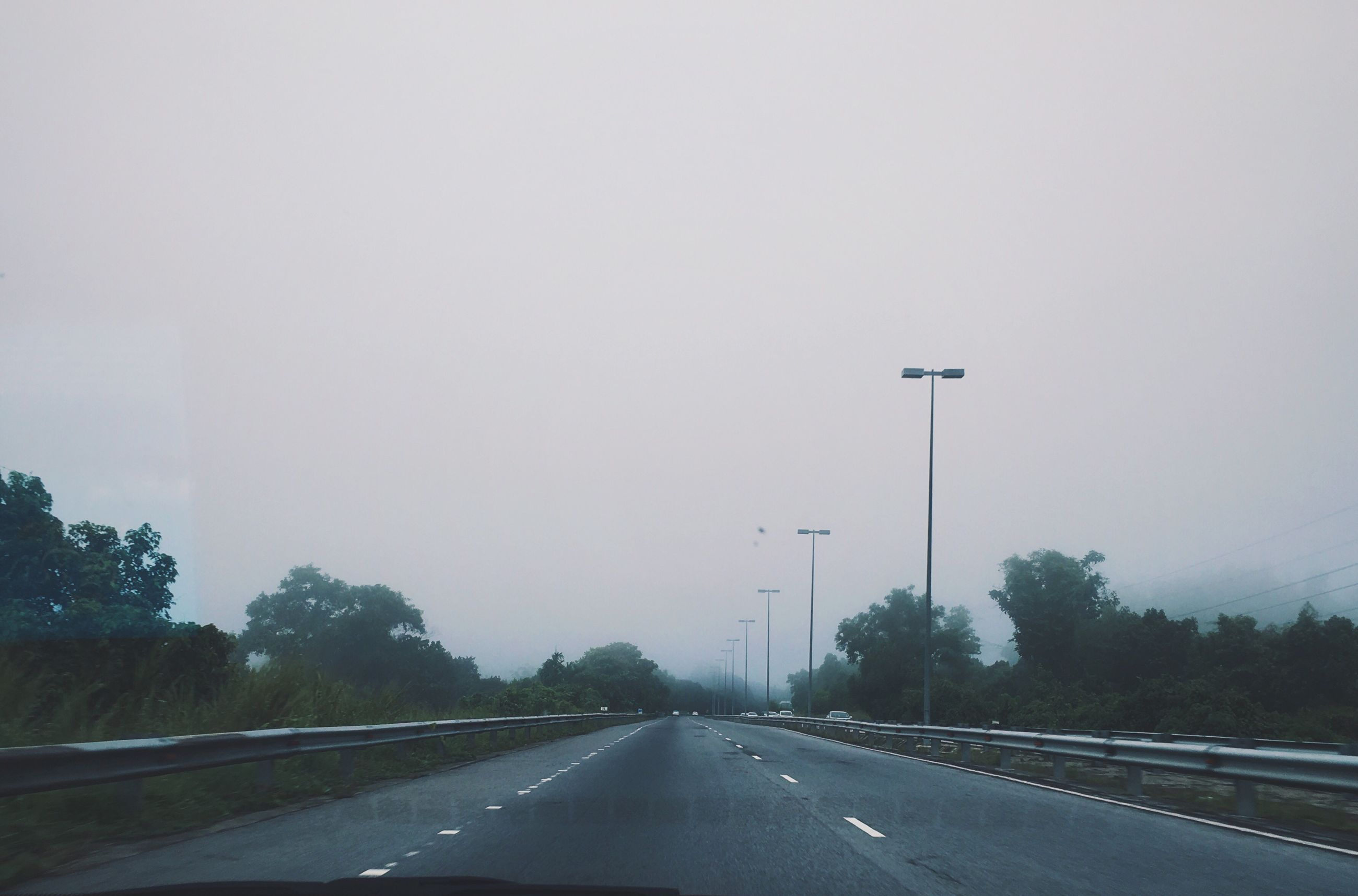 transportation, road, car, the way forward, no people, tree, highway, nature, land vehicle, car interior, day, outdoors, sky