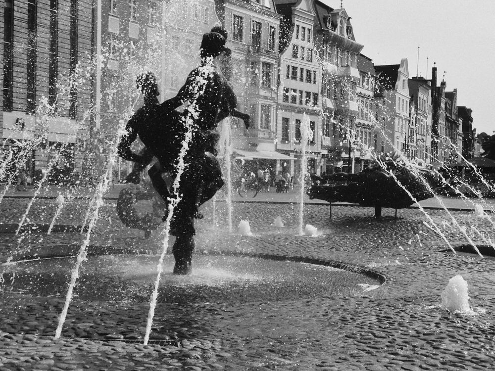 Enjoy The New Normal Day Enjoy The Moment Streetphotography IPhoneography IMography Bnw Blackandwhite Black & White Fontain City Life Springbrunnen