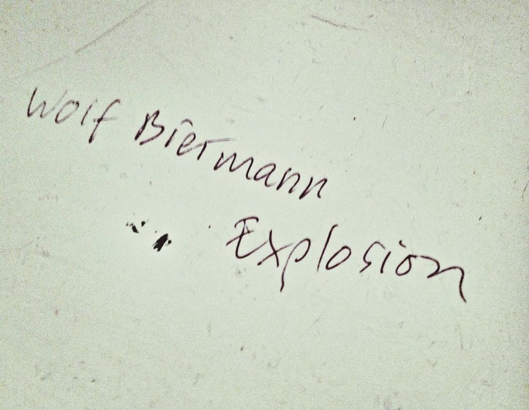 Wolf Biermann Explosion - Kugelschreiber auf Fensterbank. - Artist Unknown