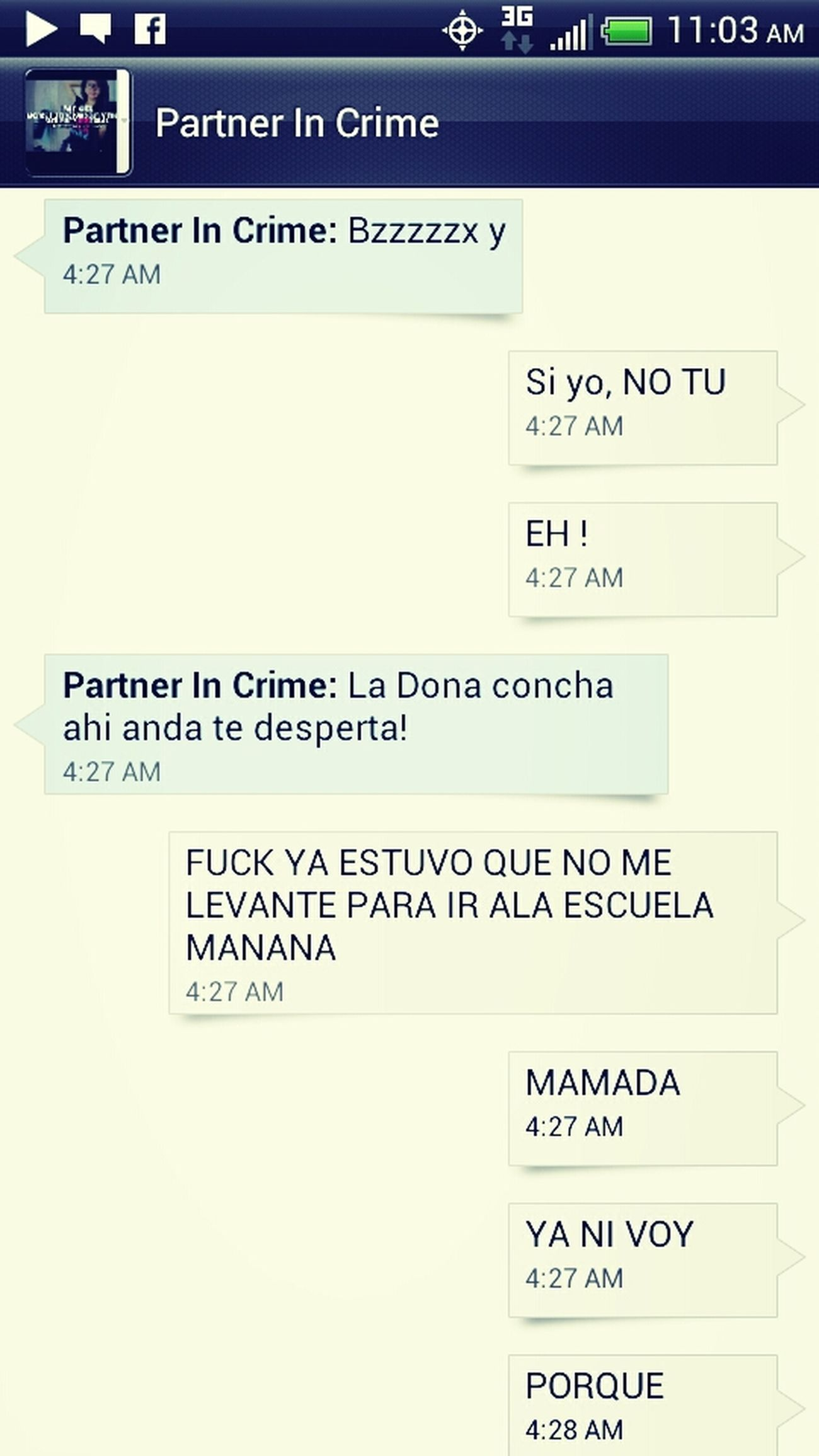 My Funny Convo With My Partner In Crime