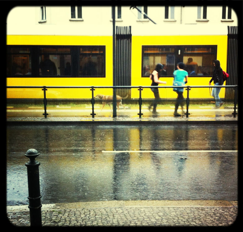 Rain in Berlin by Uecker
