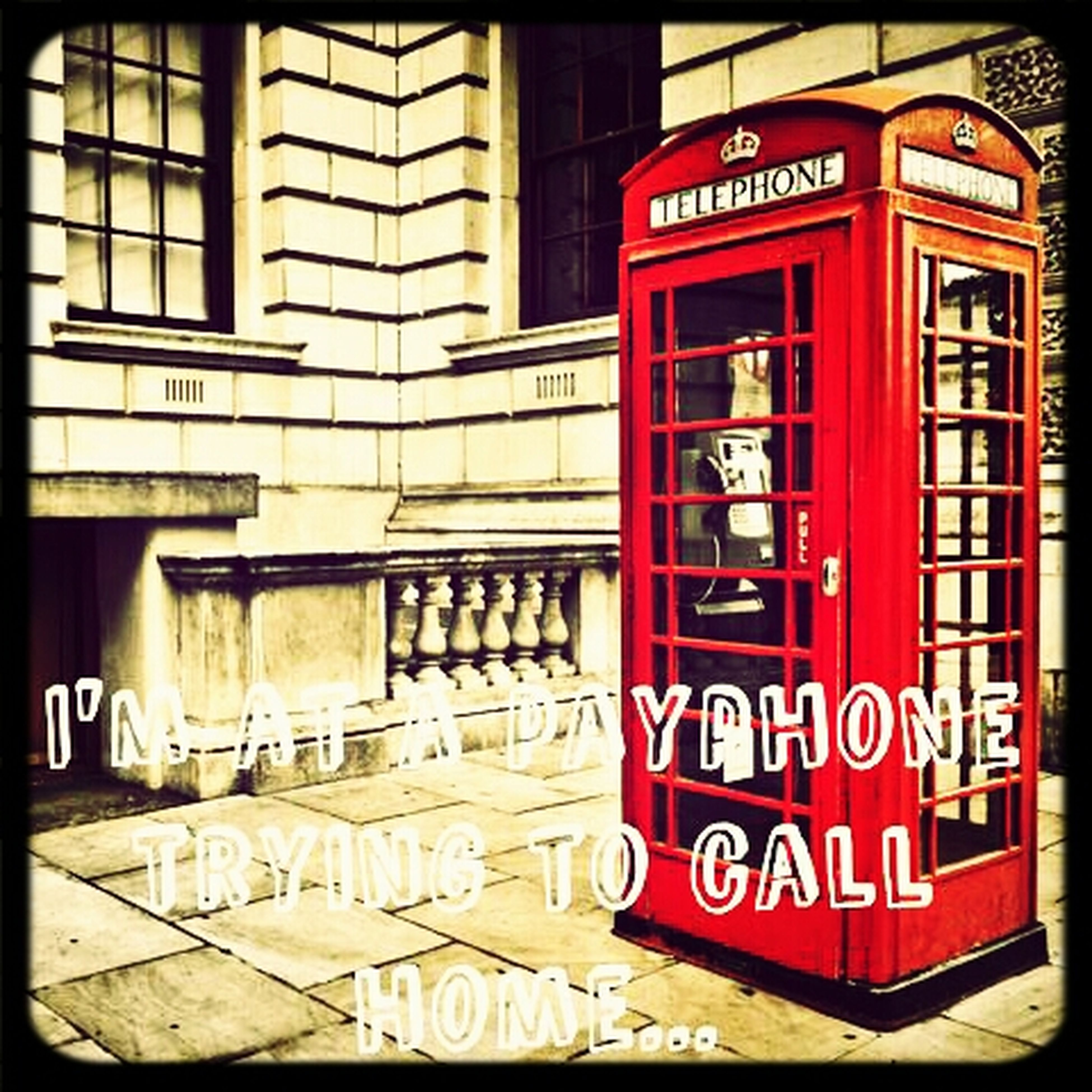 Bored Af vintage telephoneBooth. made with picsart.