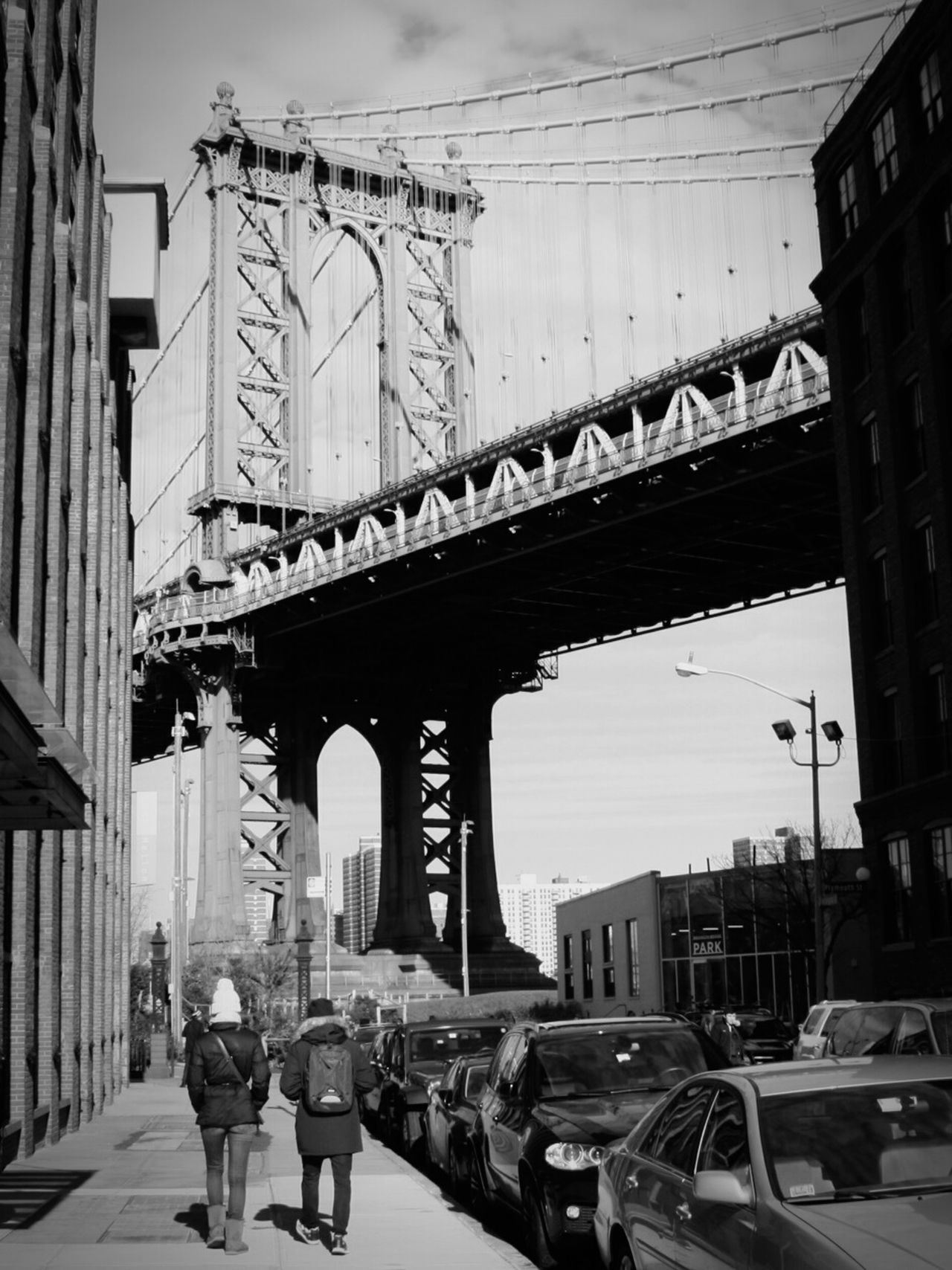 New York City DUMBO, Brooklyn Brooklyn City Life Bridgesaroundtheworld Streetphotography Manhattan Bridge Blackandwhite City Street City Sesentirminuscule TheFollowing Battle Of The Cities