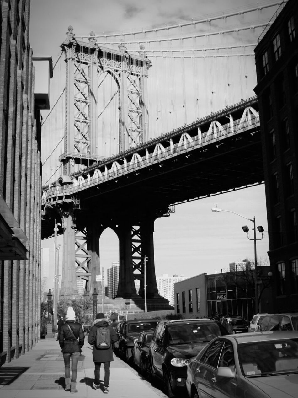 New York City DUMBO, Brooklyn Brooklyn City Life Bridgesaroundtheworld Streetphotography Manhattan Bridge Blackandwhite City Street City Sesentirminuscule TheFollowing Battle Of The Cities