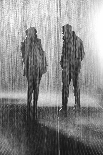 Conversation In The Rain In London