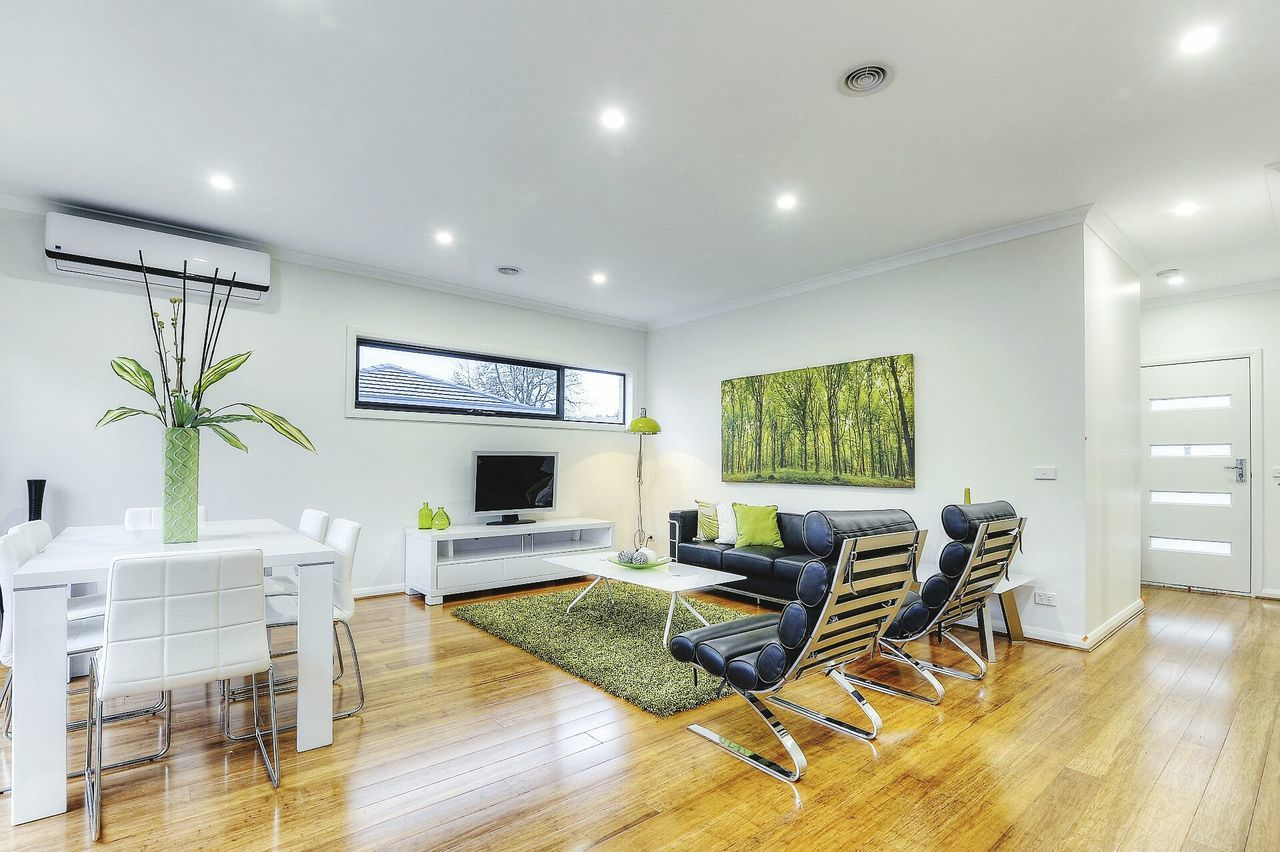 indoors, chair, empty, no people, modern, home showcase interior, day