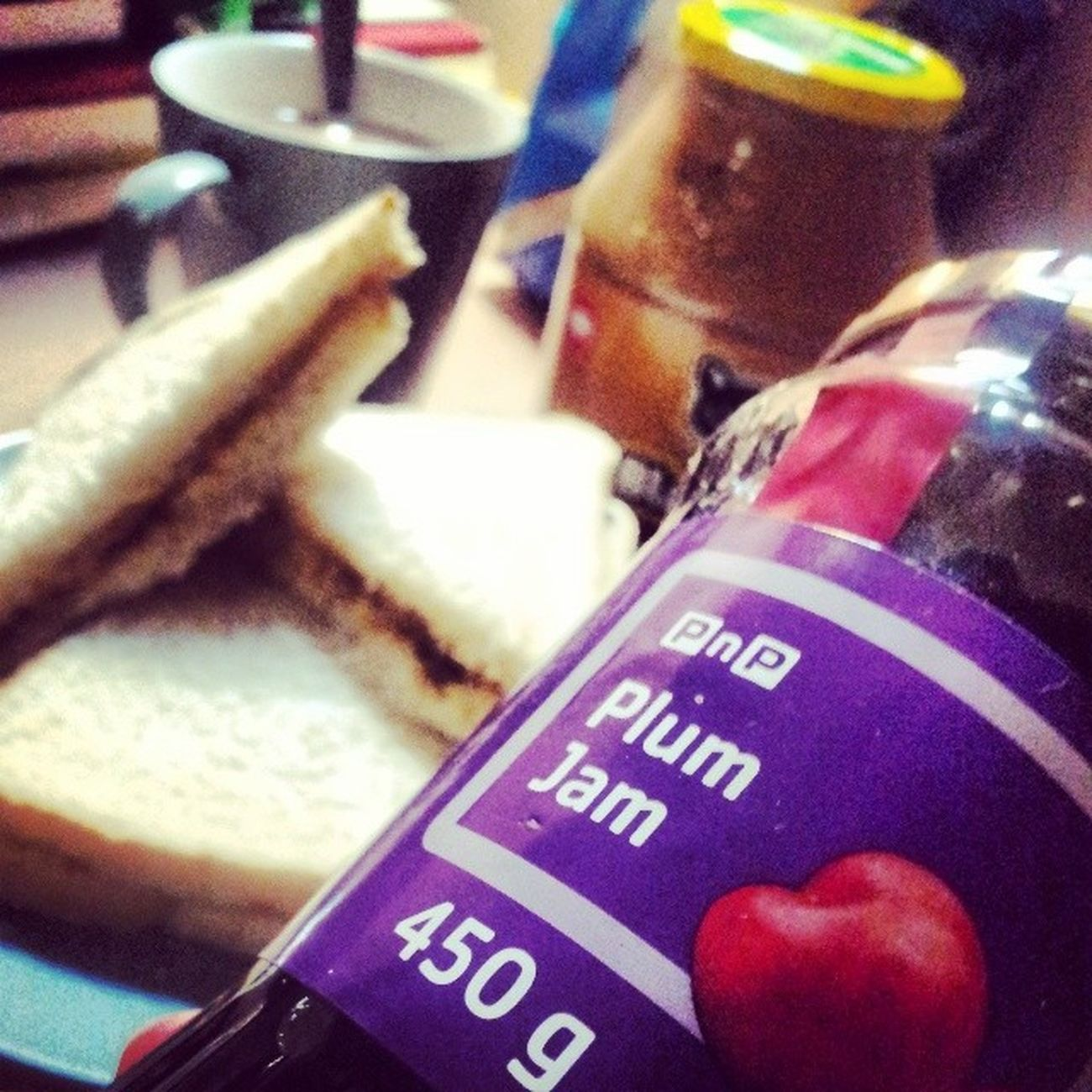 There you have it, one of my very top secret ingredients to my world famous PB&J sandwich. Plums taste so much better than apricots PbAndJ PeanutButterAndJam Peanutbutterandjelly  PlumJam BlackCat HotCocoa :) haha WorldFamous TopSecret TryIt DIY Food Photography ISO800