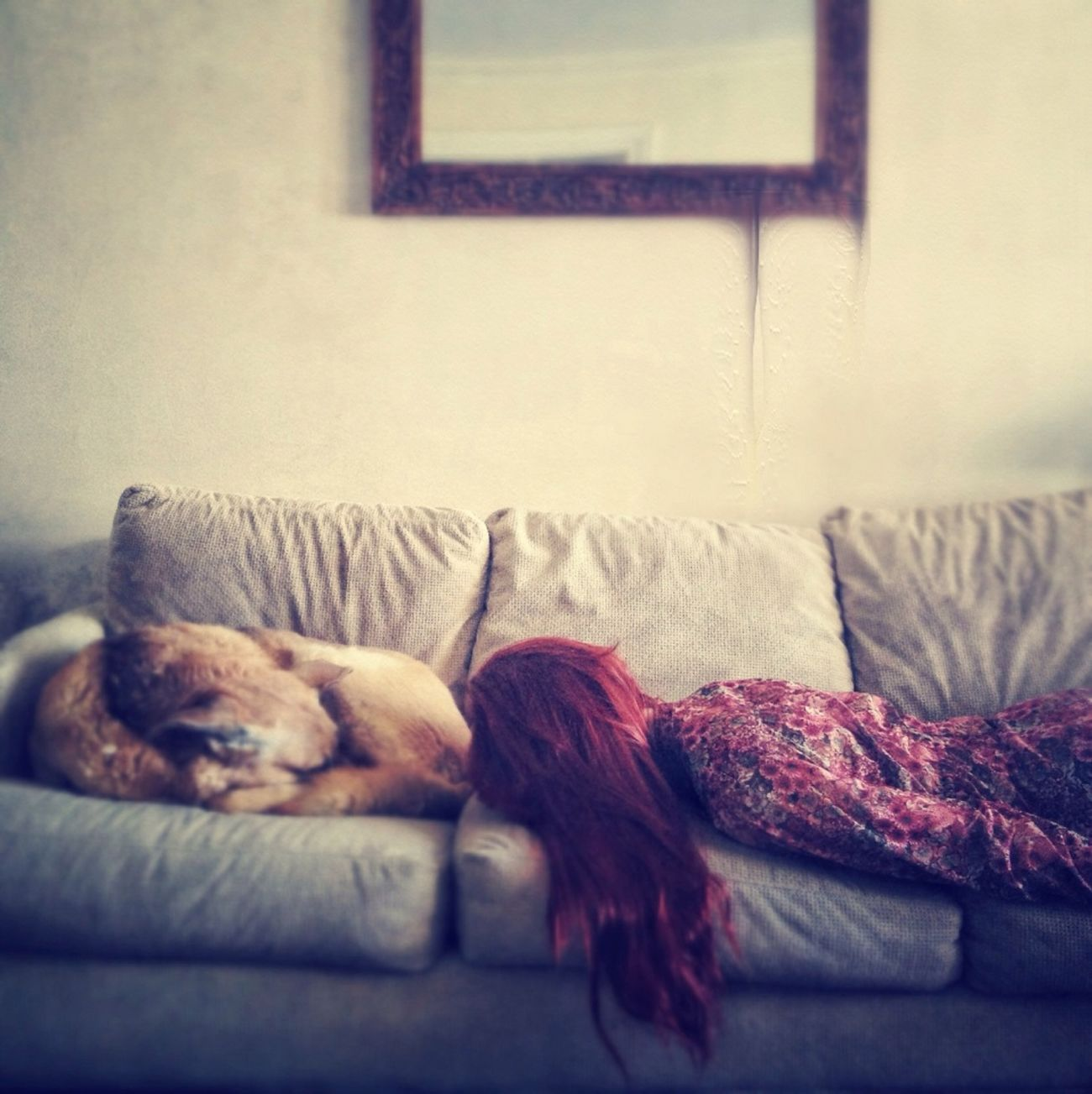 Girl and dog, part one.