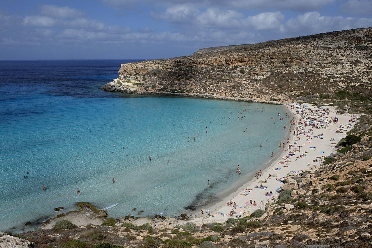 Sea Beach Landscape Nature Lampedusa  Isola Dei Conigli Mare Spiaggia🐚 First Eyeem Photo FUJIFILM X-T1 Fujinon 18-55mm Filtrond