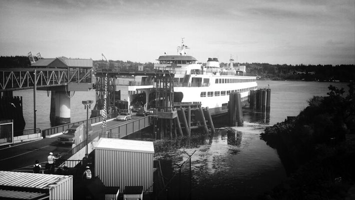 Hanging out at Bremerton Ferry Terminal by Andrew Crow