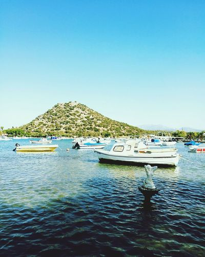 Nautical Vessel Transportation Boat Copy Space Water Mountain Clear Sky Mode Of Transport Blue Waterfront Scenics Calm Tranquil Scene Nature Tranquility Beauty In Nature Sea Day Mountain Range Outdoors No People Izmirlife Izmir ıldır