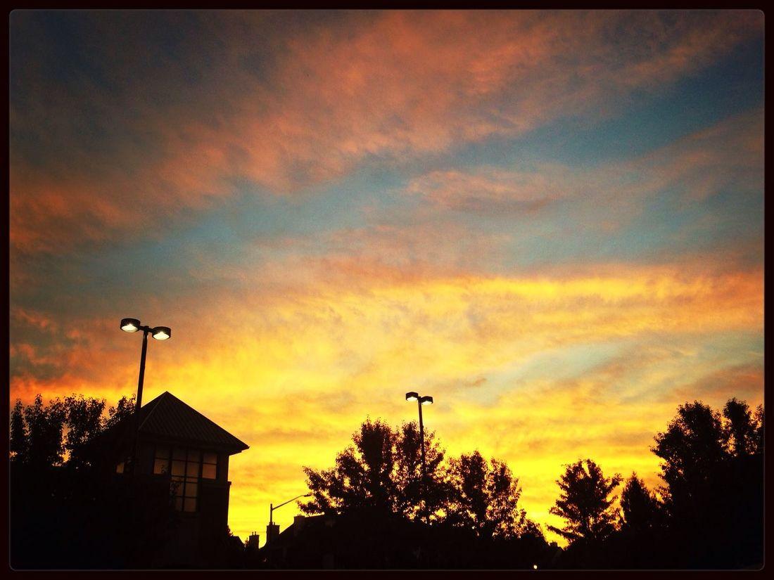 Sudden onset Sunset Sky Clouds And Sky Beautiful Sunset
