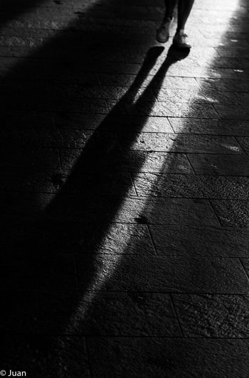One Person Black & White Streetphotography Real People Sunlight Blackandwhite Photography Black And White Light And Dark Lights