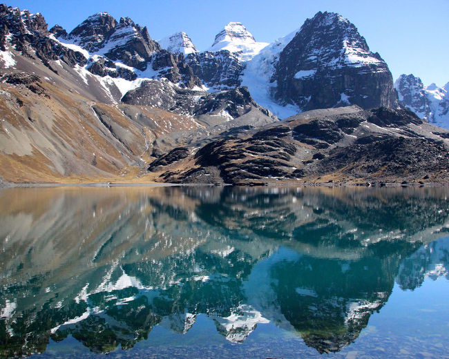 Adventure Andes Bolivia Condoriri Cordillera Real Hiking Lake Landscape Mountain Mountain Range Nature Reflection Remote Trekking Landscapes With WhiteWall
