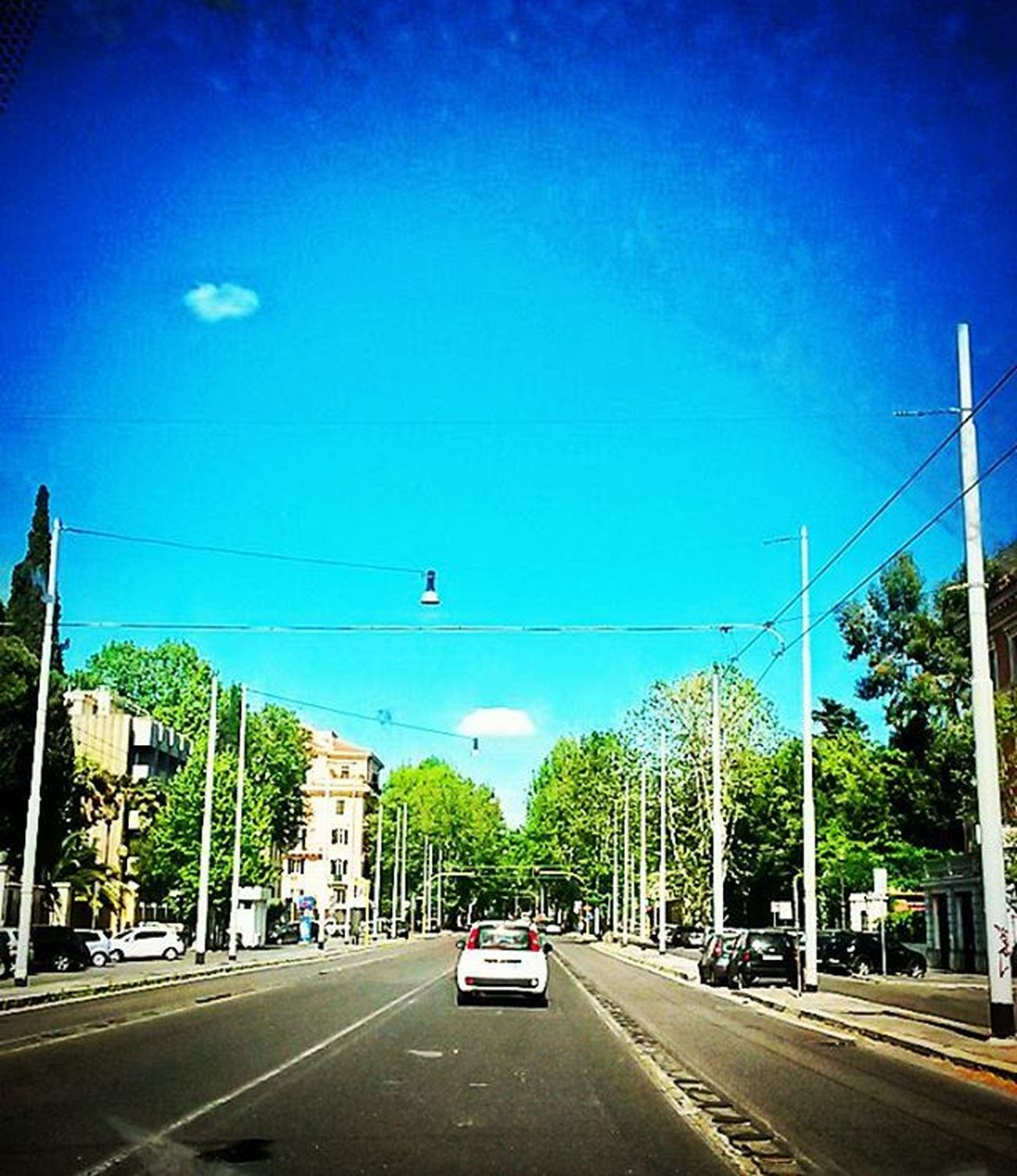 Sunny Nomentana ciaone. Nomentana Sunnyday Sun Street Rome Roma Light Spring Sky Sole Strada Luce Cielo Blue