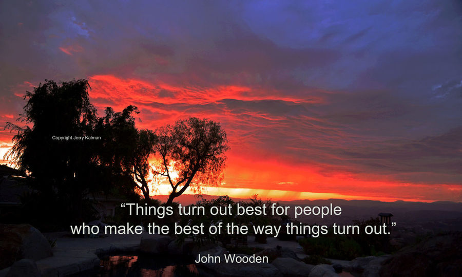 Legendary basketball coach #JohnWooden provides this #quote over a recent glorious #sunset here in #Fallbrook. If this #quotograph speaks to you, please #repost it. Fallbrook John Wooden Quotes Fallbeauty Quotograph Sunset