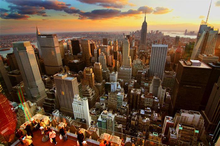 Hello World New york sunset.