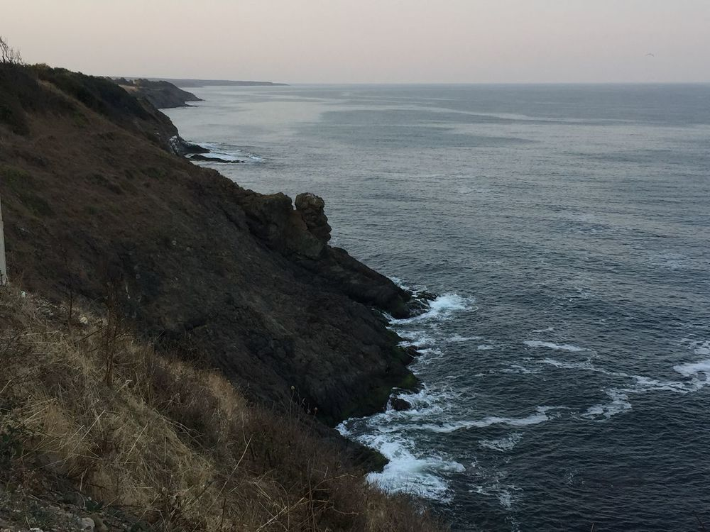 Beauty In Nature Cliff Coastline Horizon Over Water Nature No People Outdoors Rocky Coastline Scenics Sea Seascape Sky Solitude Tranquil Scene Tranquility Water Wave