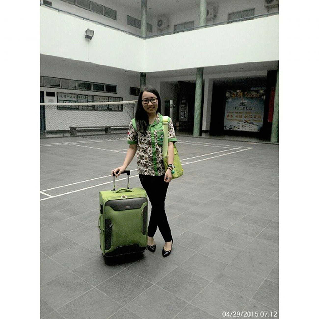 I feel so green today!!! Ready for AASC2015 Anakmedan STBA_PIA
