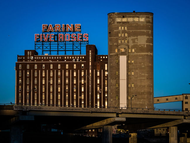 The Mill Architecture Blue City Life Historical Building Industrial Mill Neon Signs Urban Skyline
