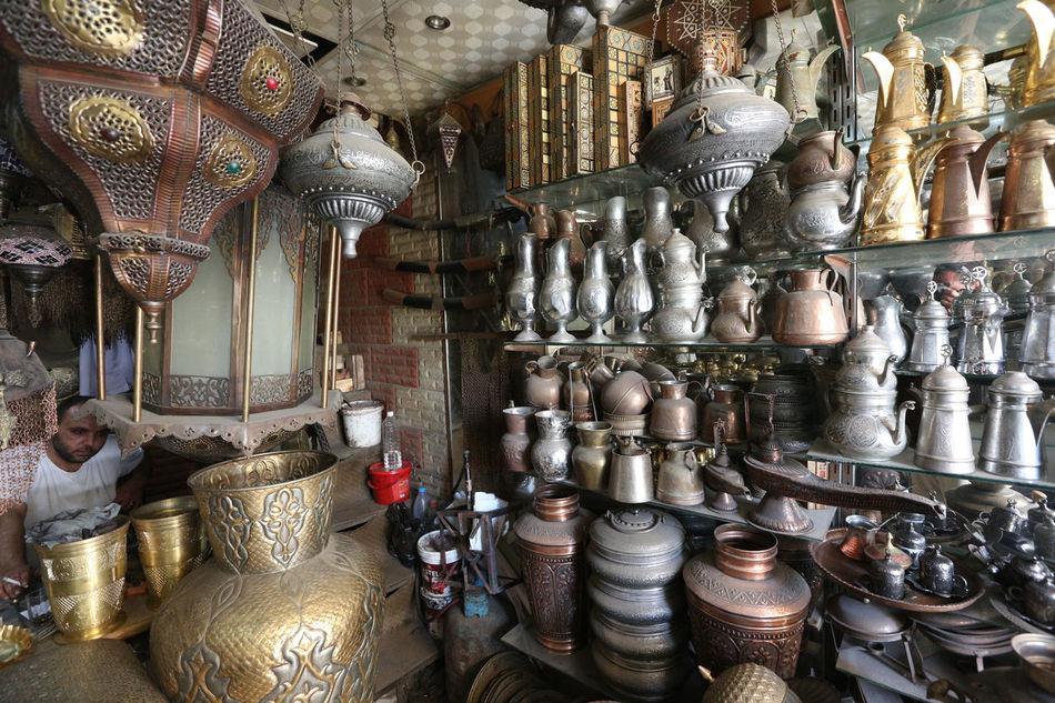 Inside Damascus, Syria. Damascus  Handmade Handwork Indoors  Inside Damascus No People Occupation Syria  Water Workshop