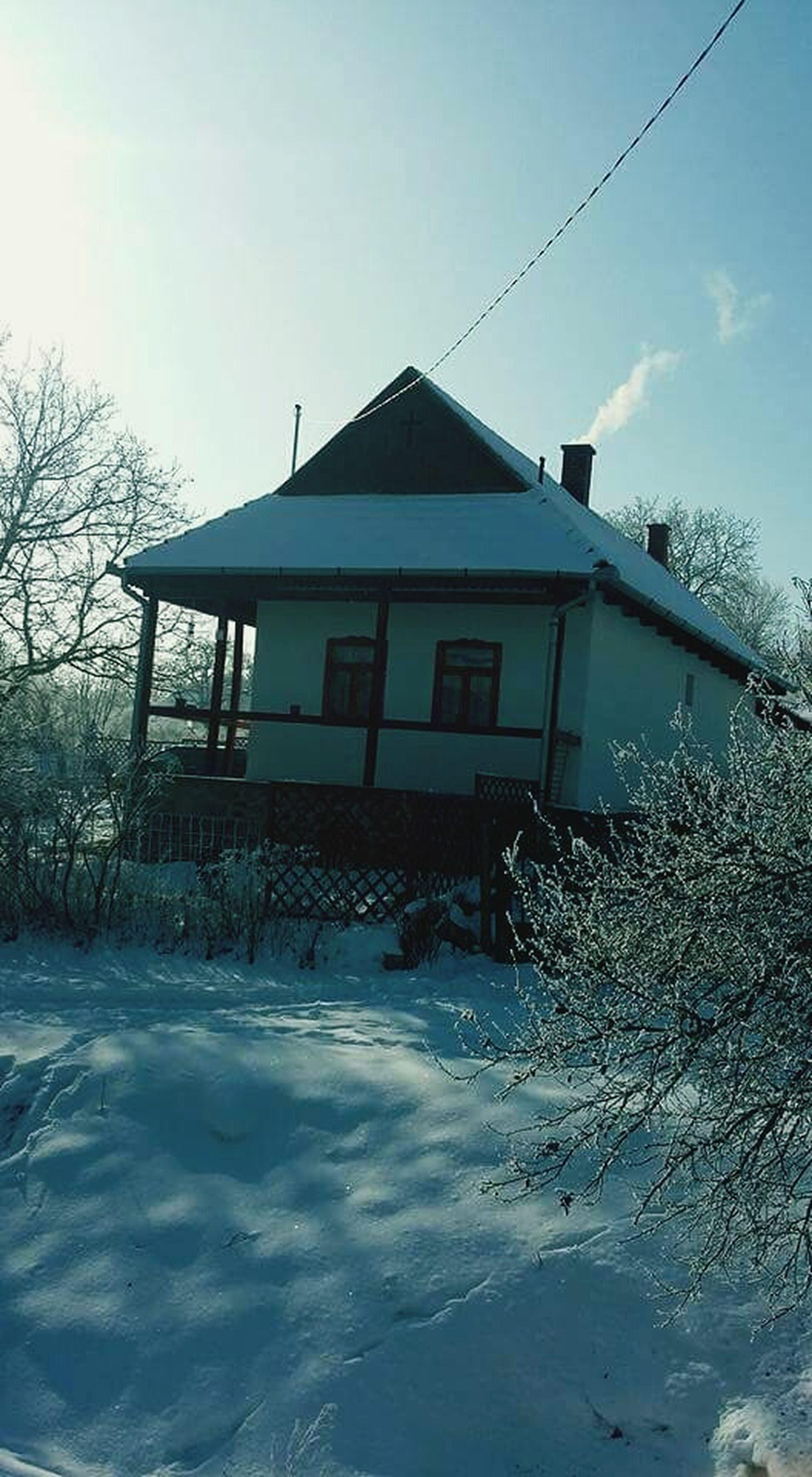 Village House Winter Snow ❄ Hungary Kutasó