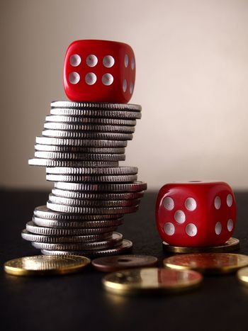 Coins and dice. Coins Money Cash Pesos Round Circle Silver  Currency Monetary Budget Spend Cost Expense Dice Dice Game Gamble Gambler Play Game Chance Luck Lucky Opportunity Fortune Treasure