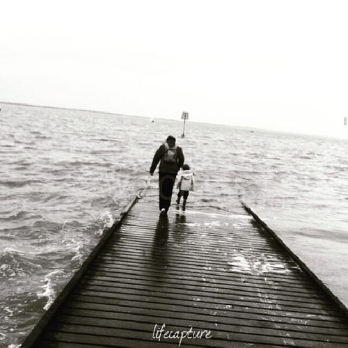 Lets go home. Blackandwhite Holdhands Motherandson  OpenSea Lytham Lythamstannes TravelTuesday Peaceful Tranquility Embracetheunknown England