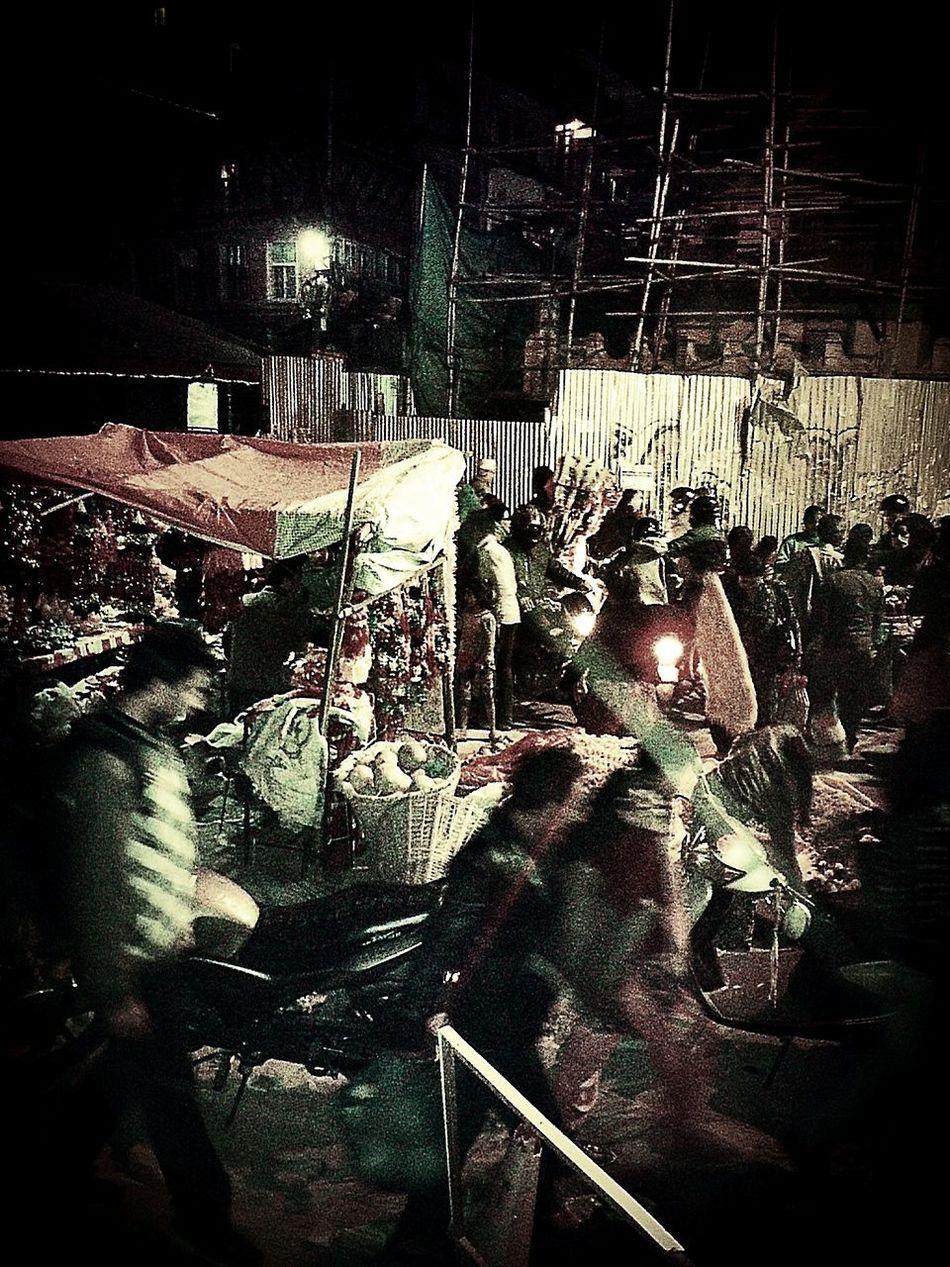Night market at Basantapur, Kathmandu Night Market Local Market People Basantapur Durbar Square Kathmandu, Nepal Old Market Square Chaos