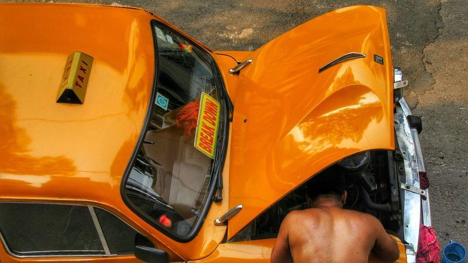 The pathetic phalacy Creative Built To Work Break Down Transportation Vehicle Cab Taxi Working Hard Still Life Structure Machine The Machine Work The Mechanic Making Urban EyeEm Wagen Calcutta Kolkata India