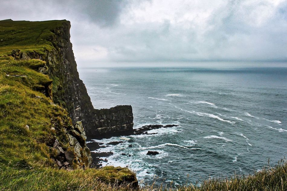 Beauty In Nature Cliffs Coastline Iceland Iceland_collection Latrabjarg Nature Rock - Object Sea Tranquil Scene