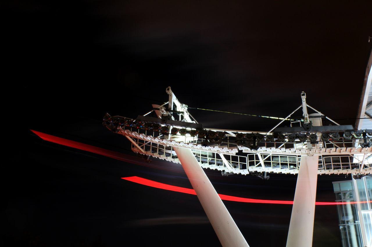 Emirates Airline Greenwich London Long Exposure Night Lights Night View Nightphotography O2 Arena Ski Lift Shots Skilift Art Skylift Tflers Travel