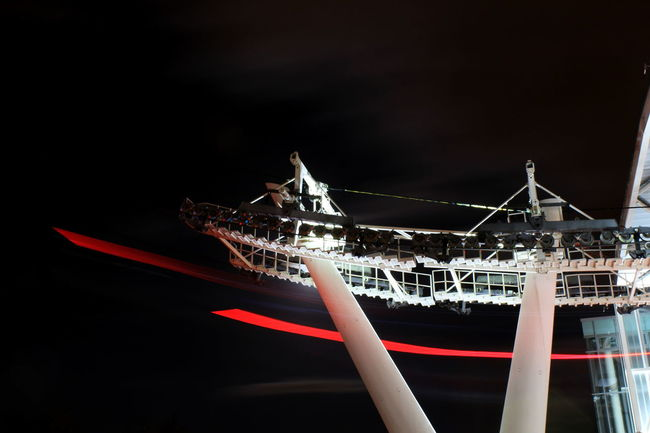 Emirates Airline Greenwich London Long Exposure Night Lights Night View Nightphotography O2 Arena Ski Lift Shots Skilift Art Skylift Tflers Travel
