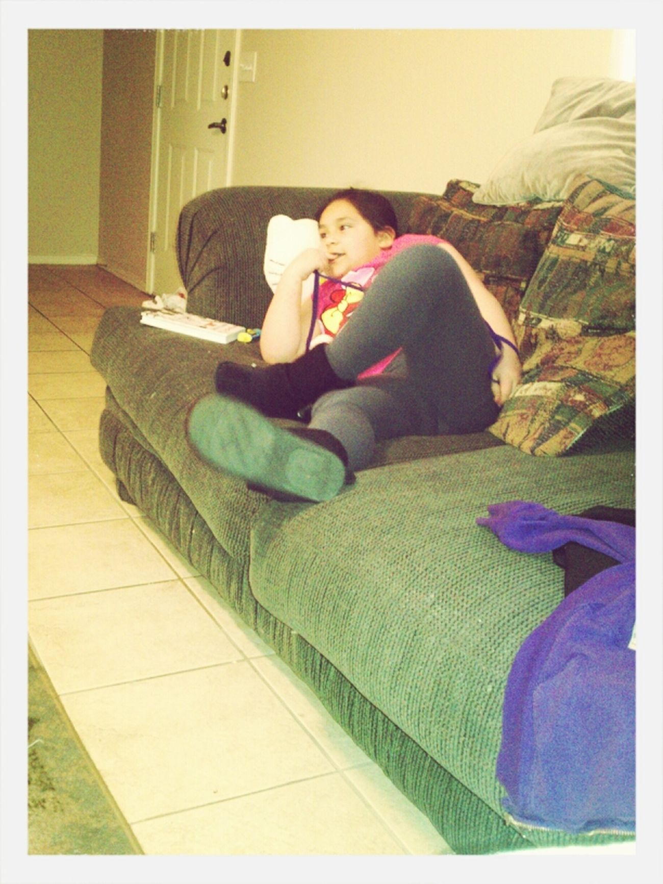 My Sister Being Lazy(: