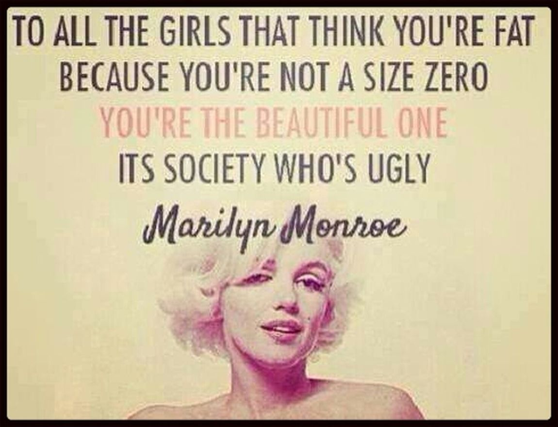Quoteoftheday Quote (: Hello World Marilyn Monroe Quote  BE YOURSELF!! :)